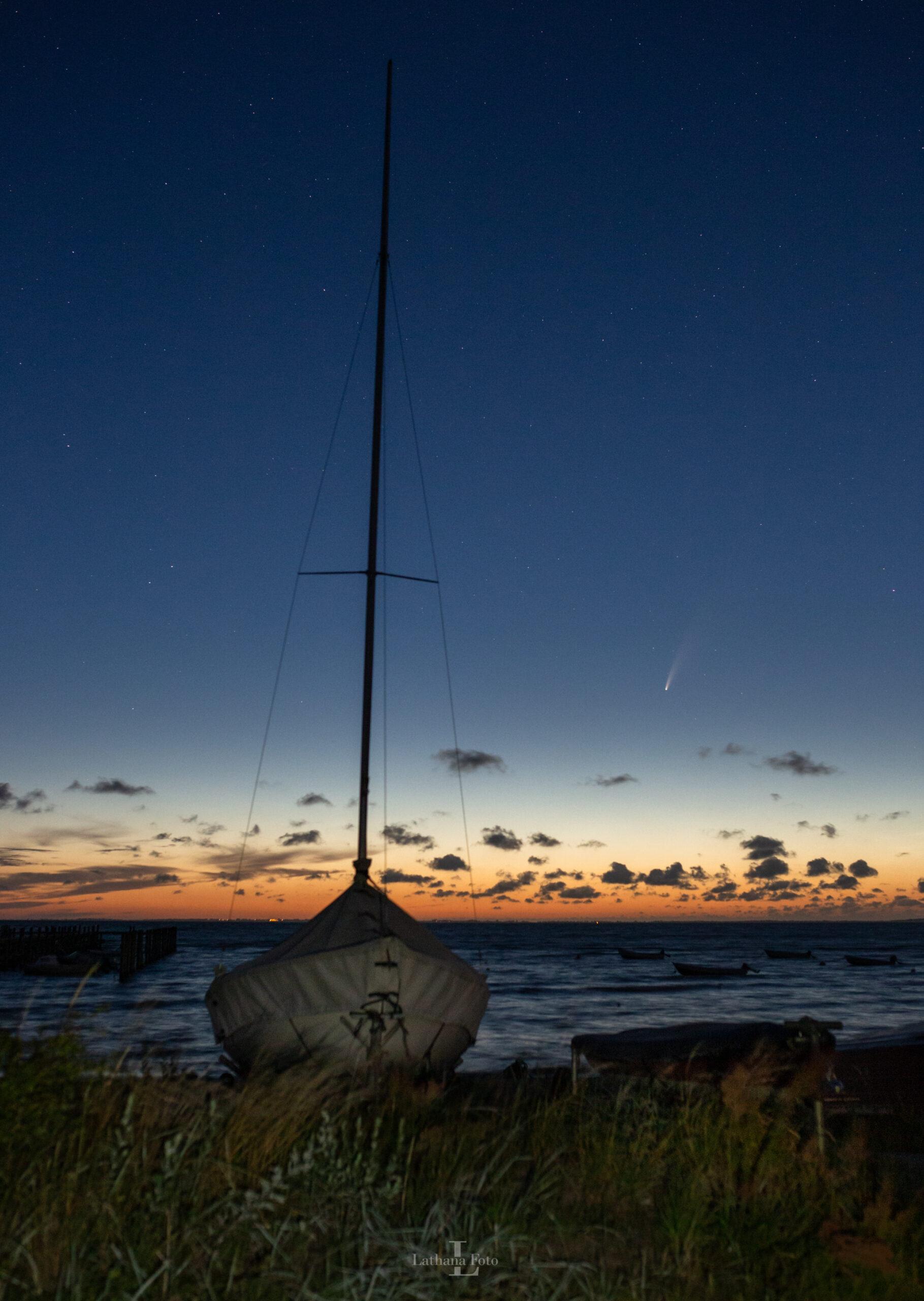 ordrup strand båd og komet 120720