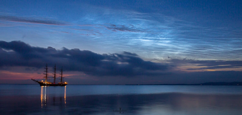 Lysende natskyer og Georg Stage 240621 4a